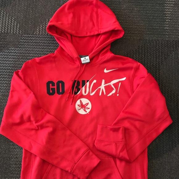 Nike Sweaters Mens Ohio State Buckeyes Authentic Hoodie Poshmark